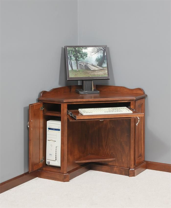 Image of: Corner Computer Cabinet Armoire
