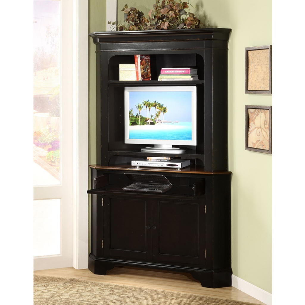 Picture of: Corner Small Computer Armoire