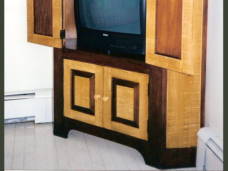 Image of: Corner TV Armoire Detail