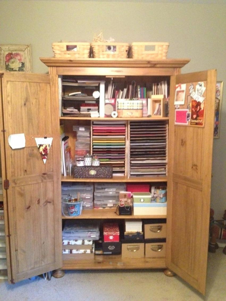 Image of: Craft Armoire Plan