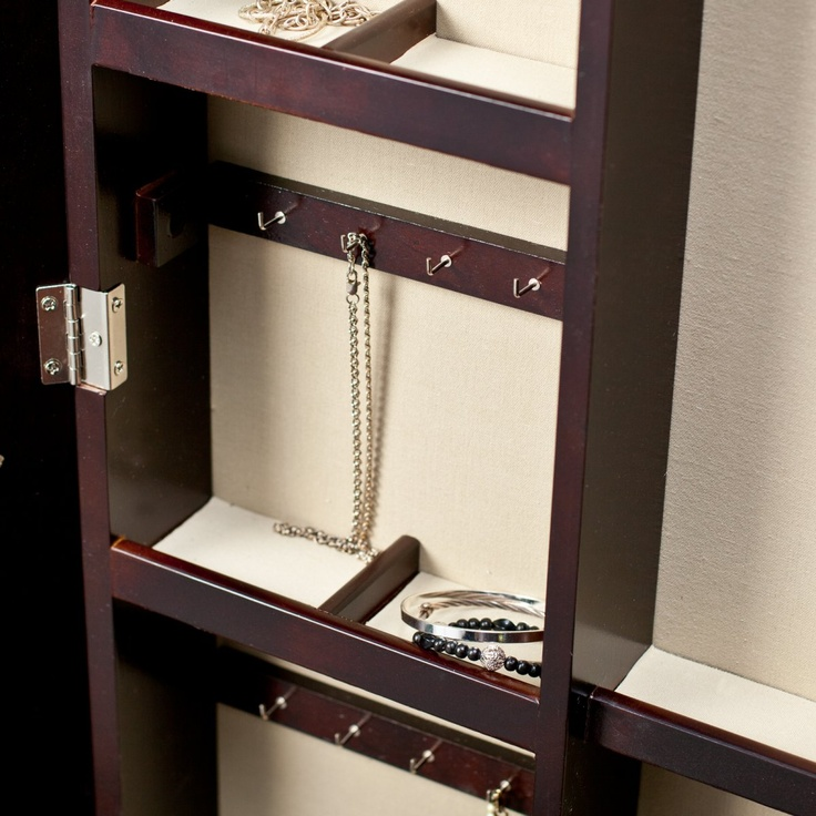 Custom Cheval Mirror Jewelry Armoire