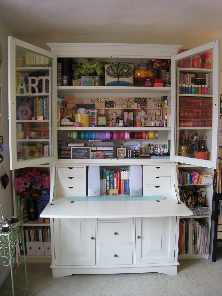 Image of: Custom Craft Storage Armoire