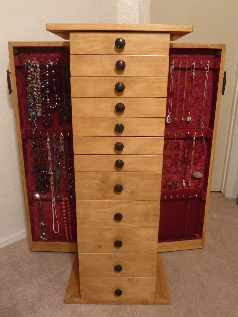 Image of: Custom Jewelry Cabinet Armoire