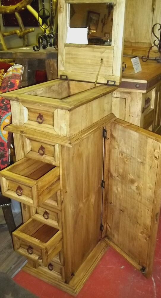 Image of: Custom Rustic Jewelry Armoire