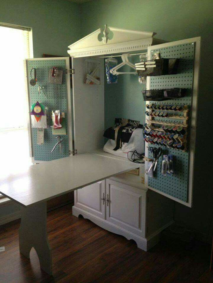 Image of: Custom Sewing Armoire