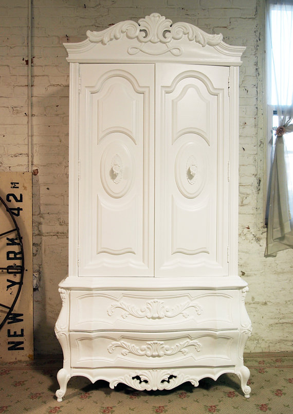 Image of: Custom Shabby Chic Armoire