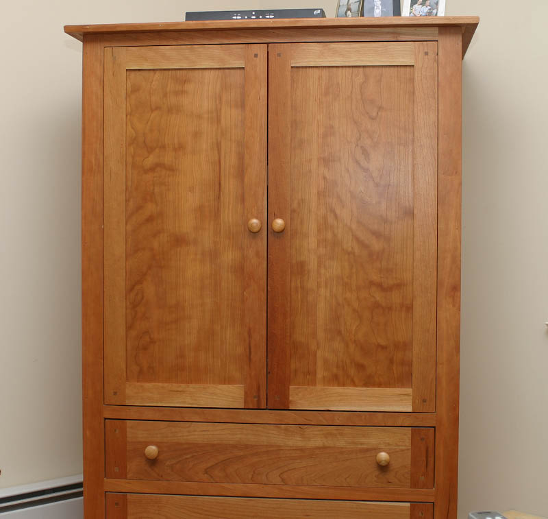 Image of: Custom TV Armoire Cabinet