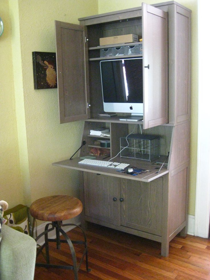 Image of: Cute Armoire Computer Desk