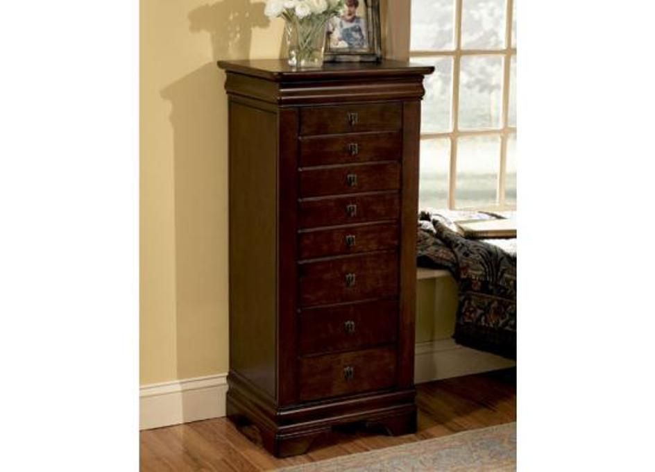 Image of: Dark Cherry Jewelry Armoire
