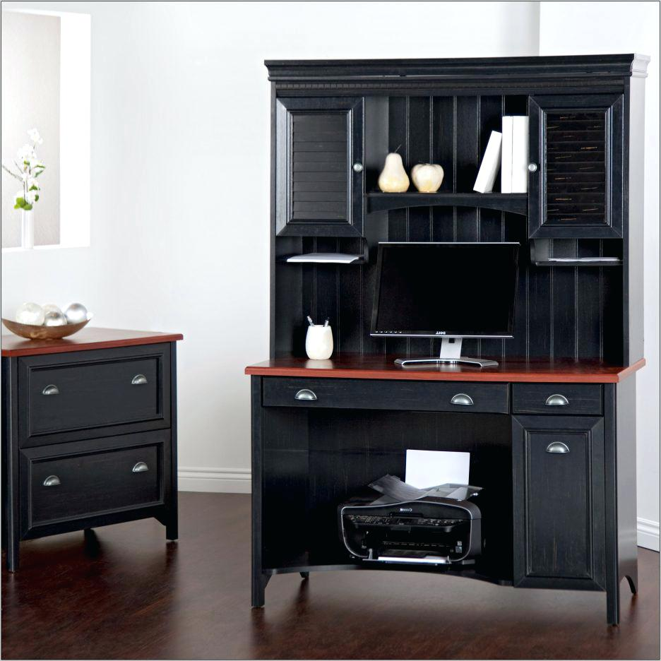 Picture of: Dark Corner Armoire Computer Desk