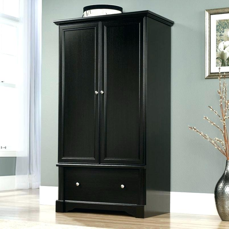 Image of: Dark Distressed Armoire
