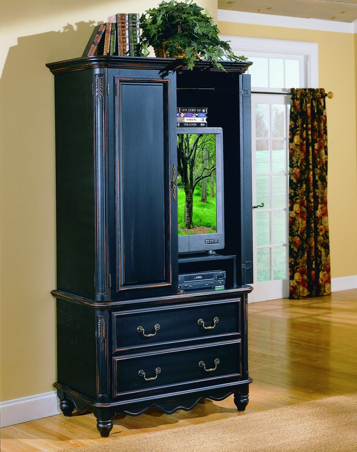 Image of: Dark Entertainment Armoire