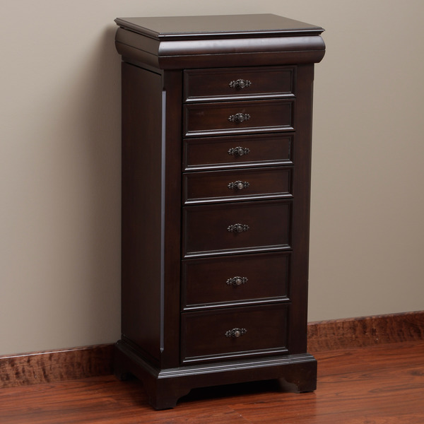 Dark Locking Jewelry Armoire