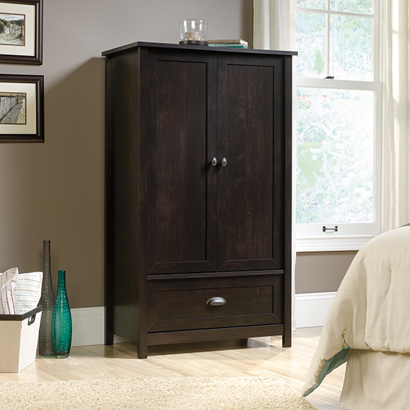 Image of: Dark Sauder Armoire