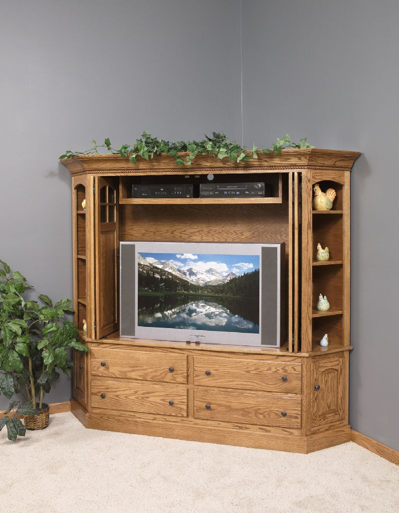 Picture of: Deluxe Corner TV Armoire