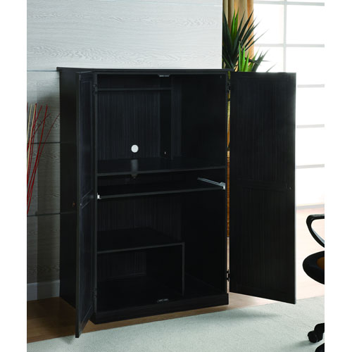 Design Black Computer Armoire