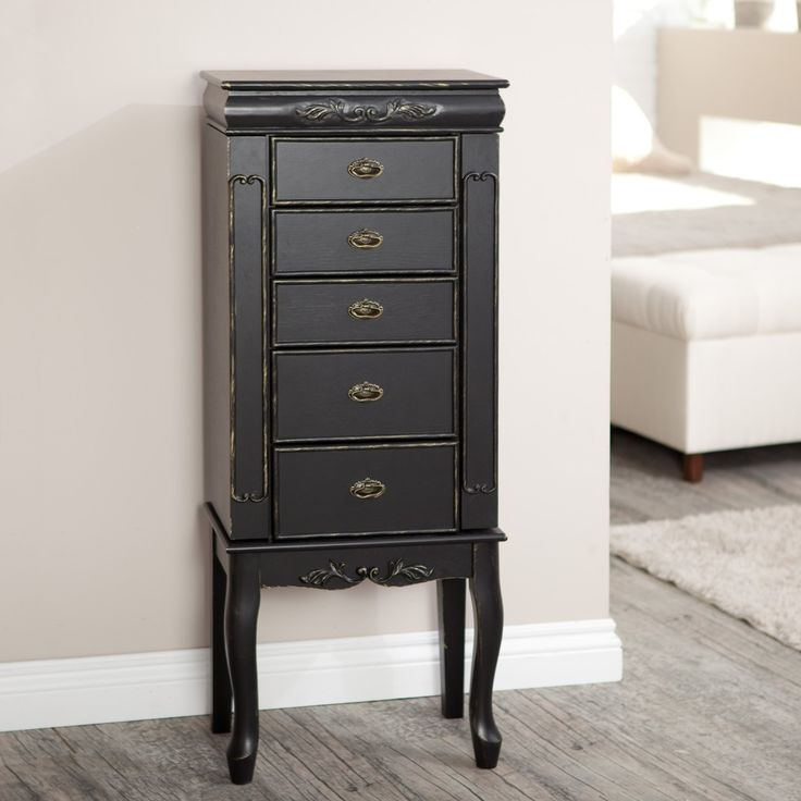 Image of: Design Black Jewelry Armoire