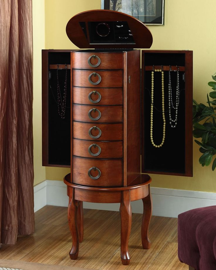 Image of: Design Cherry Jewelry Armoire