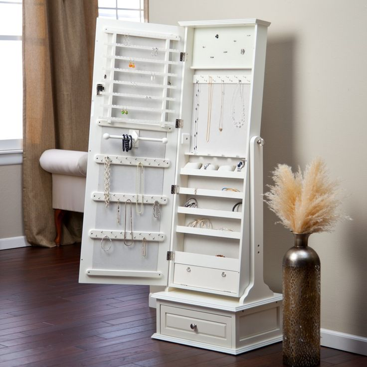 Image of: Design Cheval Mirror Jewelry Armoire