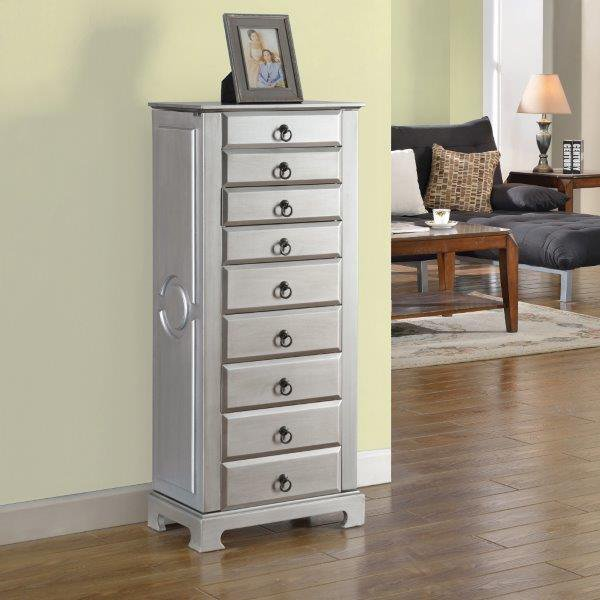 Image of: Design Tall Jewelry Armoire