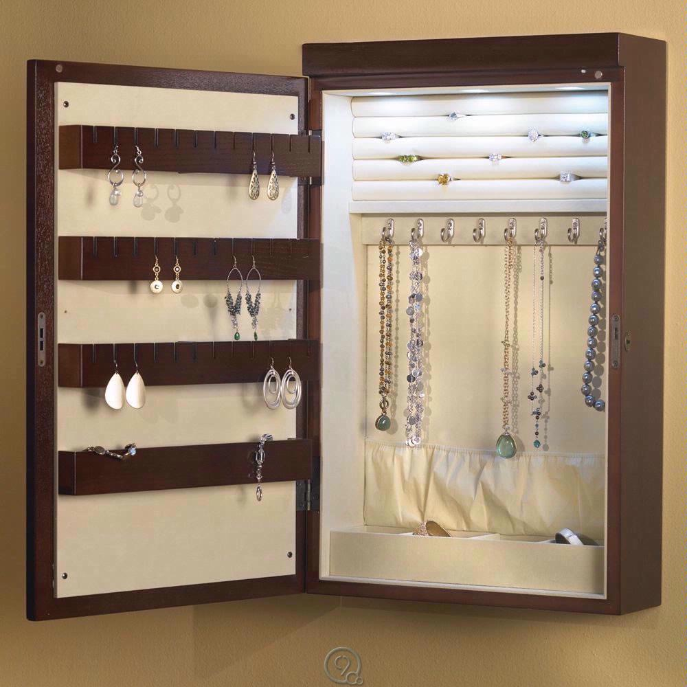 Image of: Design Wall Jewelry Armoire