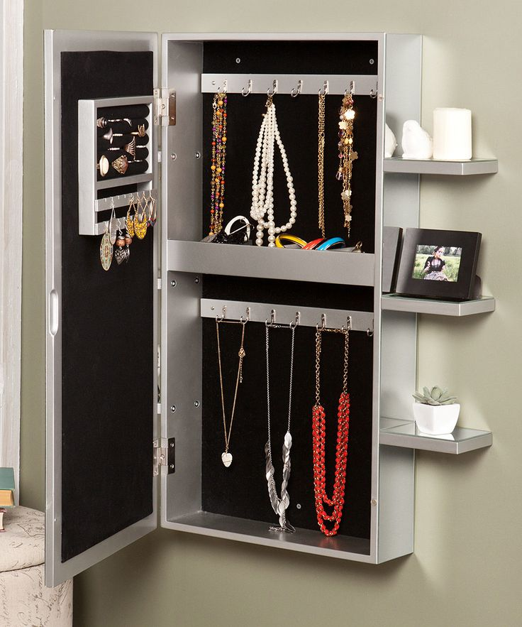 Design Wall Mount Jewelry Armoire