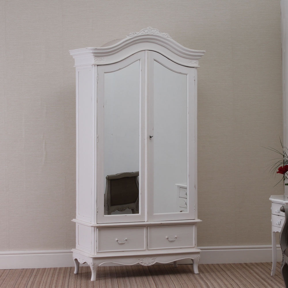 Image of: Distressed Armoire Wardrobe