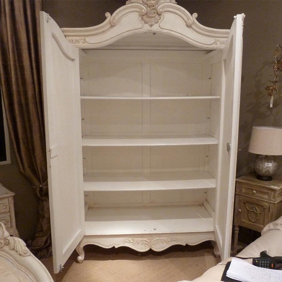Image of: Distressed Armoire in Bedroom
