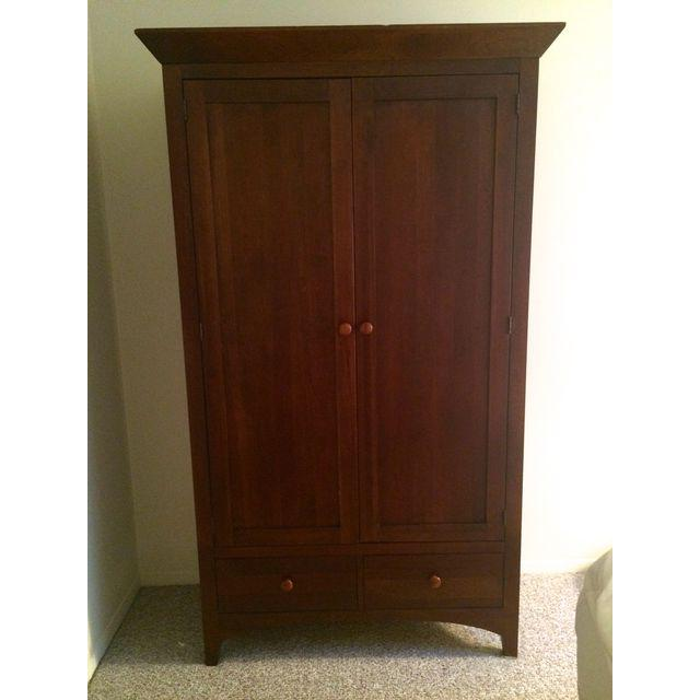 Image of: Easy Cherry Wood Armoire