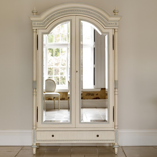 Picture of: Eclectic Mirrored Armoire Wardrobe