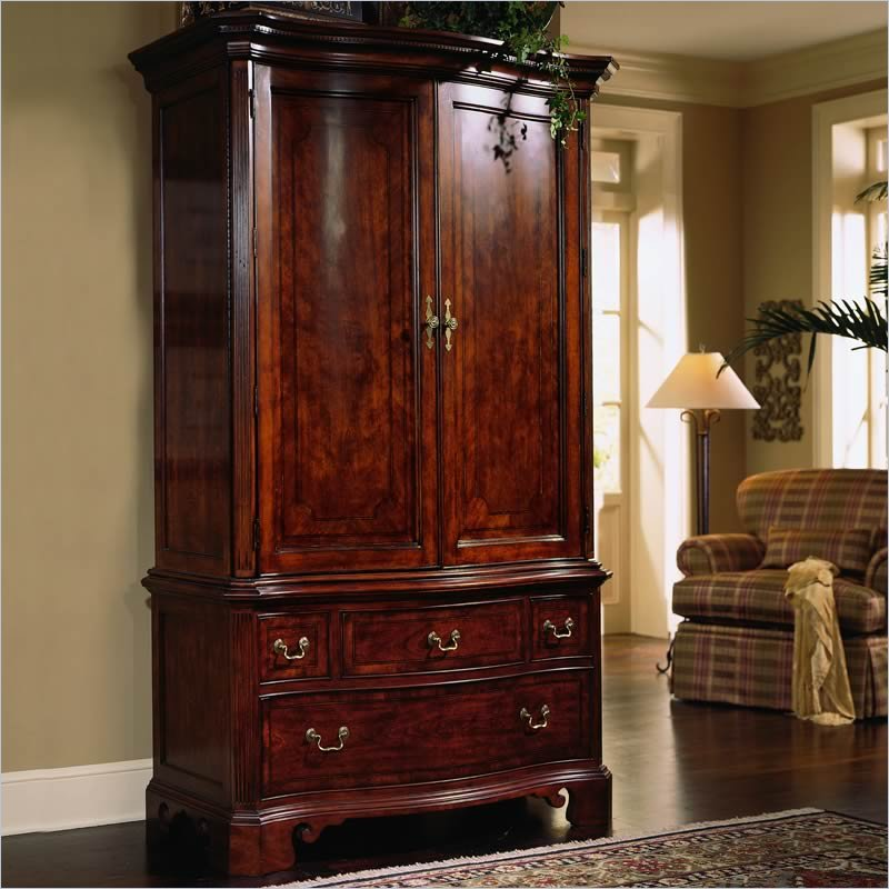 Image of: Elegant Cherry Armoire