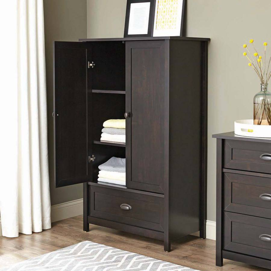 Picture of: Elegant Espresso Armoire