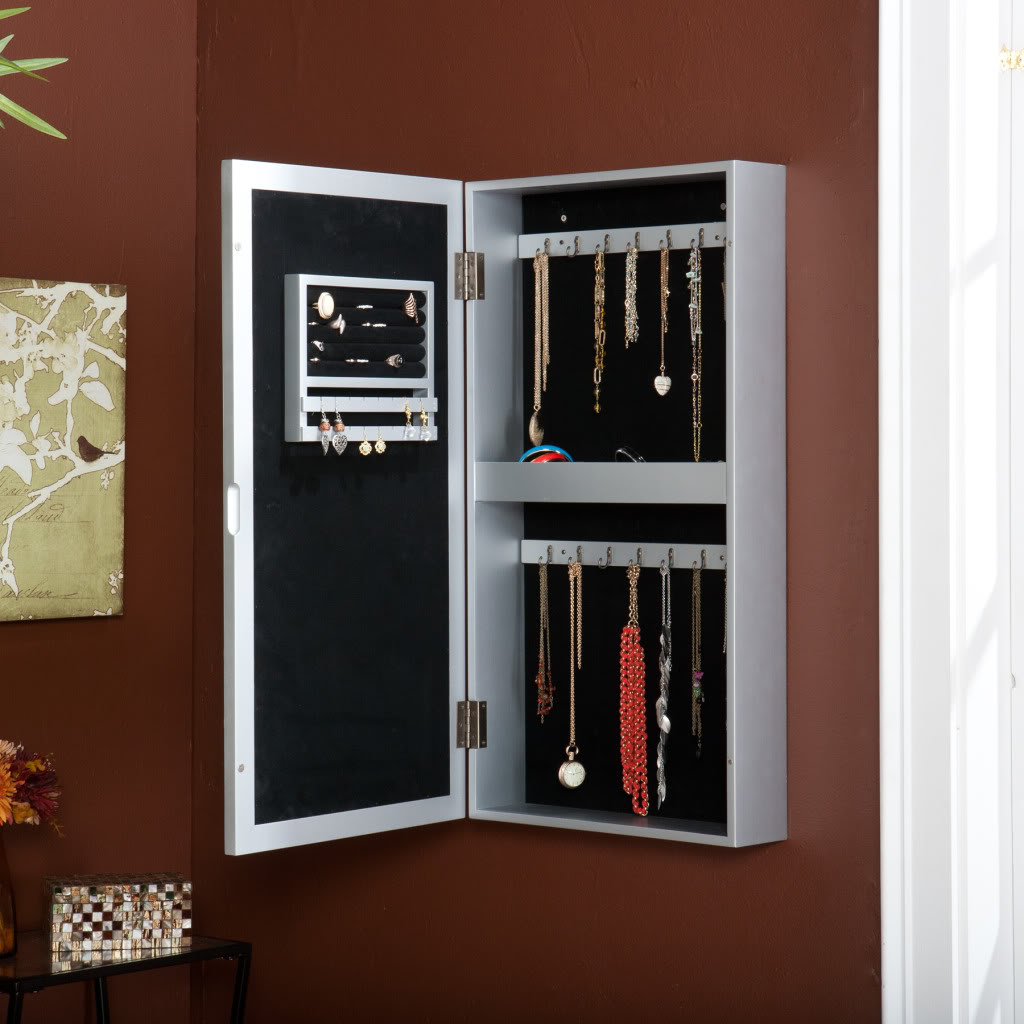 Picture of: Elegant Hanging Jewelry Armoire