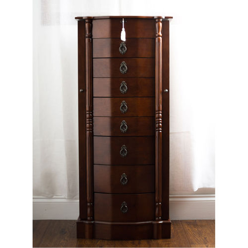 Elegant Locking Jewelry Armoire