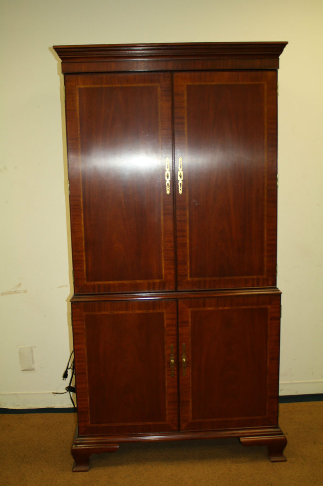 Image of: Elegant TV Armoire Cabinet