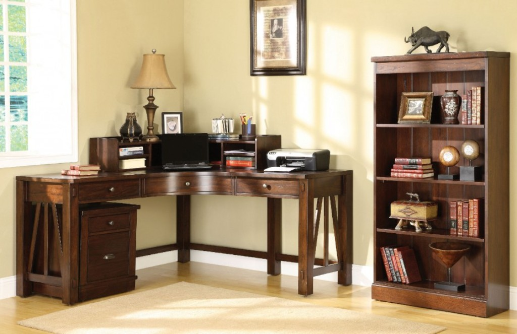 Image of: Elrgant Corner Armoire Desk