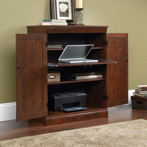 Image of: Enclosed Computer Cabinet Armoire
