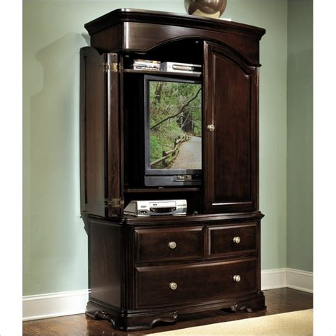 Image of: Entertainment Cherry Armoire