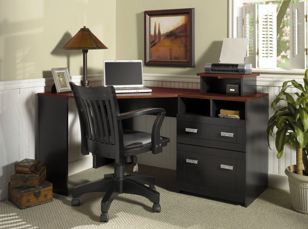 Image of: Excellent Corner Armoire Desk
