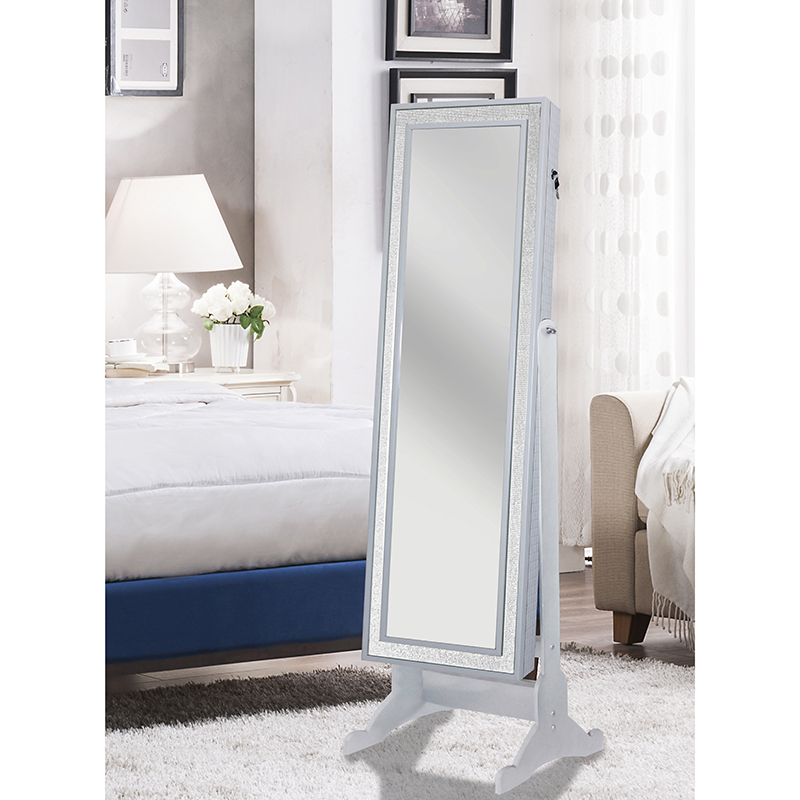 Glass Modern Jewelry Armoire