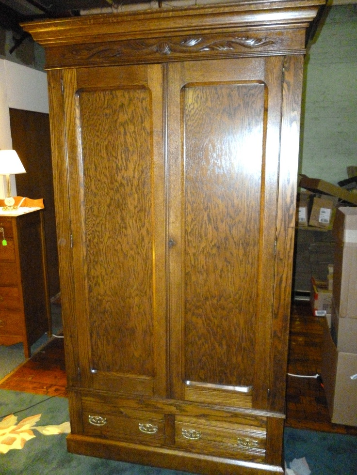Image of: Great Antique Armoire Wardrobe