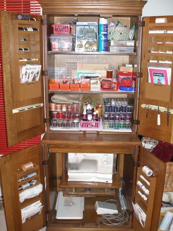 Image of: Great Sewing Armoire