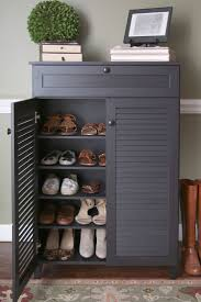 Picture of: Grey Armoire with Drawers and Shelves