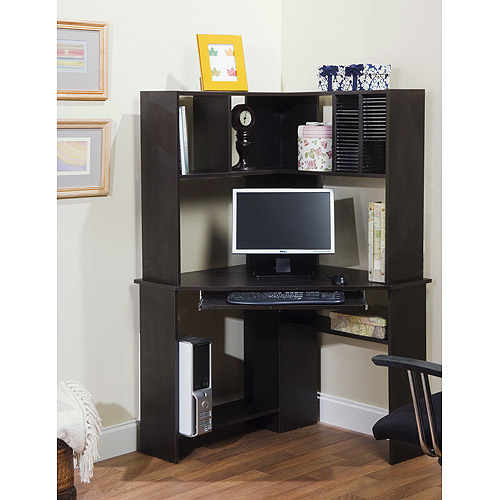 Picture of: Grey Corner Computer Armoire