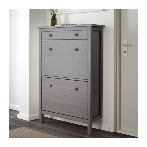 Image of: Grey Shoe Armoire