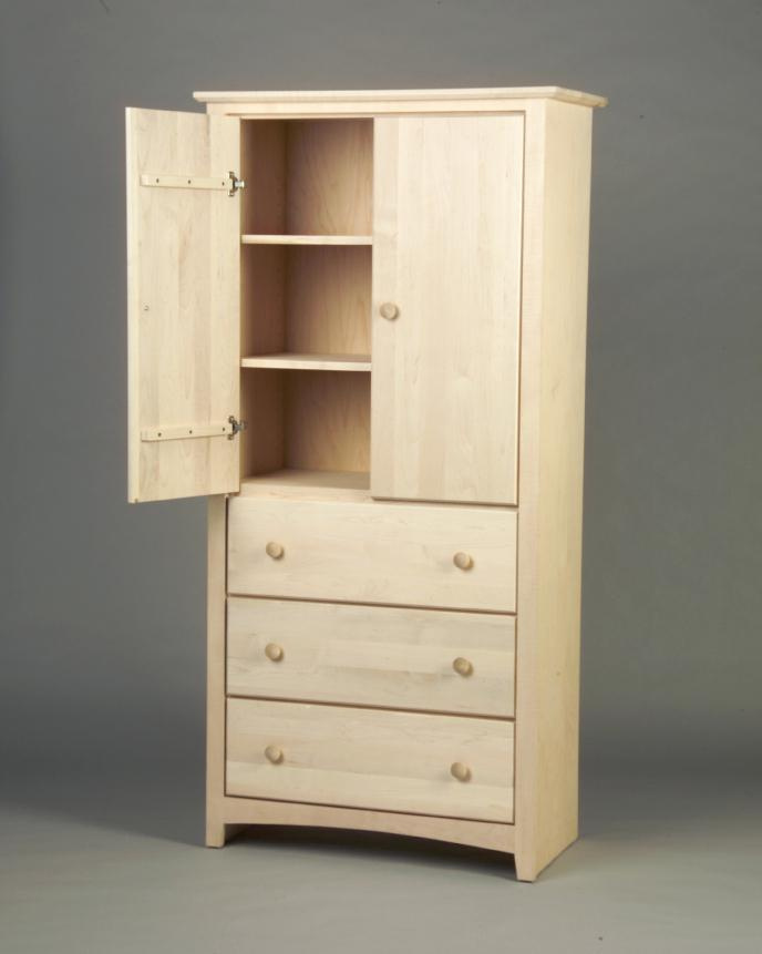 Picture of: High Armoire with Drawers and Shelves