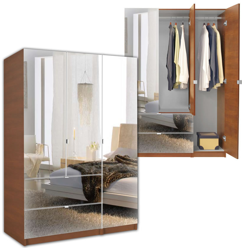 Image of: Image Mirrored Armoire