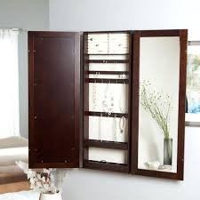 Image of: Image Mirrored Jewelry Armoire