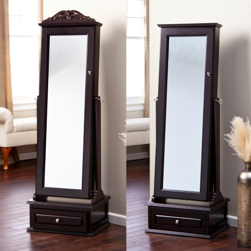 Image of: Image Standing Mirror Jewelry Armoire