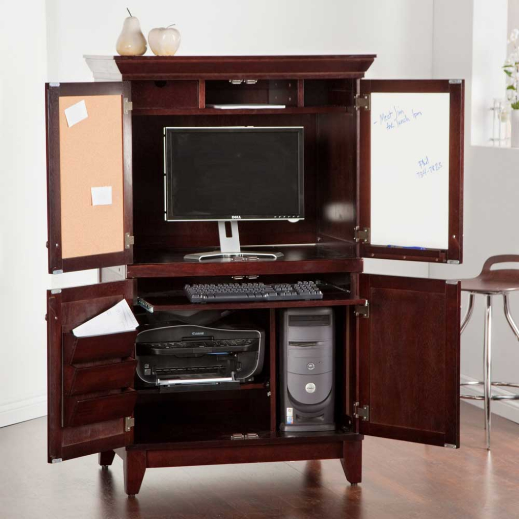 Picture of: Inspiring Small Computer Armoire